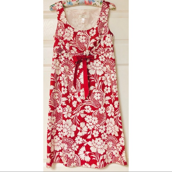 LOFT Dresses & Skirts - Ann Taylor LOFT red and white sleeveless dress